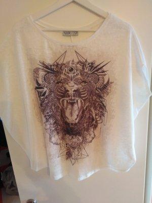 Oversized T-shirt mit Print
