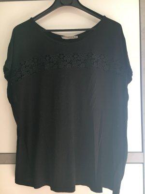 Oversized T-Shirt mit Spitzen-Applikation