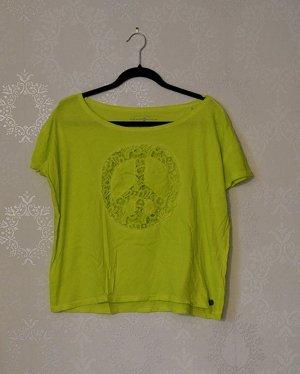 Oversized T-Shirt Tom Tailor Peacezeichen Neu Hippie Cut Out