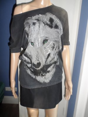 Oversized Top mit Wolf
