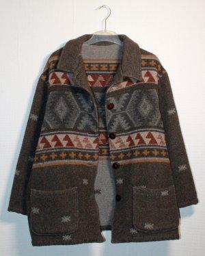 Oversized, true vintage, warme Baumwolljacke / Strickjacke / Minimal