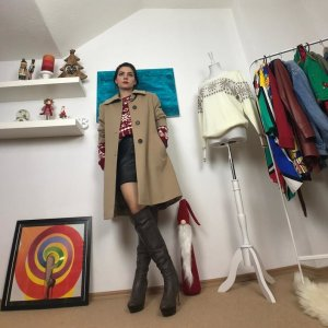 Oversized vintage wool coat by Calw 1650