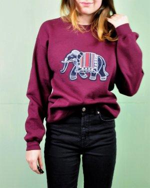 Oversized Winter Pullover mit Elefant Aufnäher / Patch
