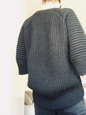 Oversized Wollpullover, rippled