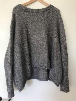 Zara Knit Grof gebreide trui grijs-donkergrijs