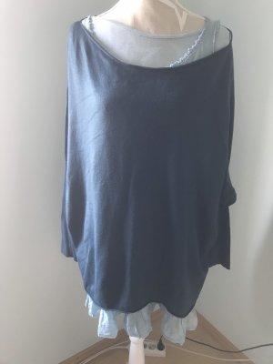 Oversized Sweater petrol-light blue
