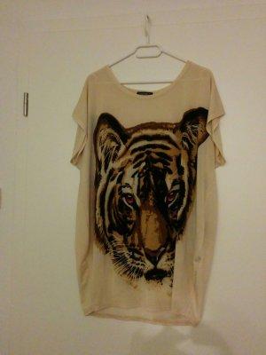 oversizedshirt mit Tigerkopf