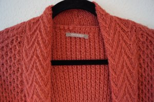 Orsay Coarse Knitted Jacket dark orange mixture fibre