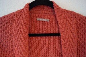 Orsay Grof gebreid vest donker oranje Gemengd weefsel