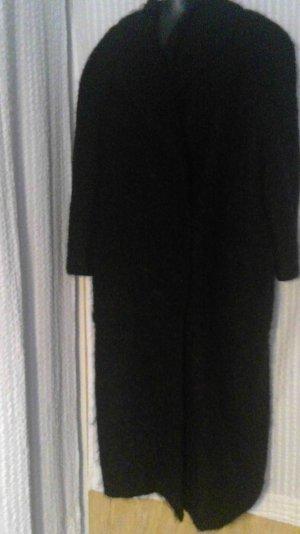 Oversized Coat black mixture fibre