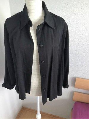 Overzise Blusenjacke schwarz, weite Form