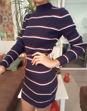 OVS Pullover-Kleid, Marineblau / gestreift Größe XL (oder S)