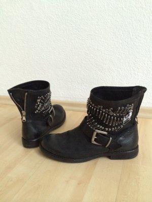 Laarzen zwart Leer