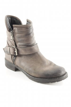 Ovyé Booties anthrazit Biker-Look