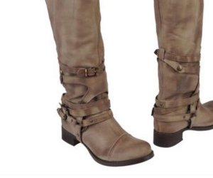 Ovyé Buskins camel leather