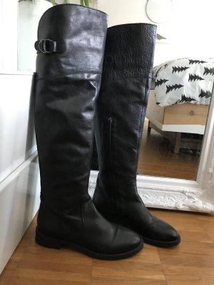Ovyé Cuissarde noir cuir