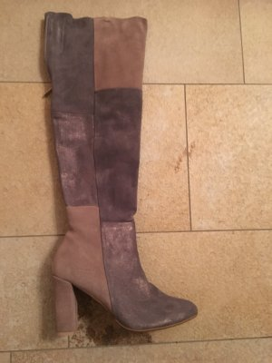 Chaussures gris-bronze cuir