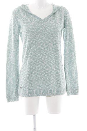 Oxbow Sweatshirt hellgrün-weiß meliert Casual-Look