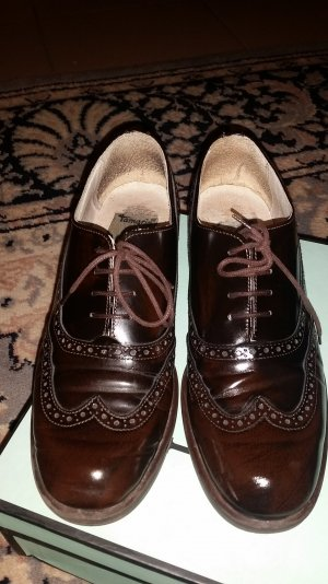 Tamaris Oxfords black brown leather