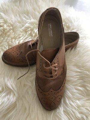 Oxford Schuhe cognac
