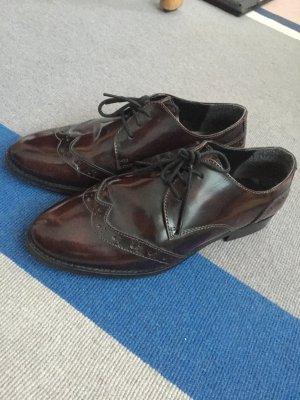 Oxford Schuhe in oxblood *echtes Leder*