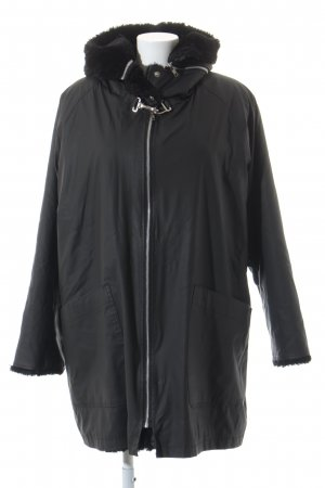 Oxford Street Paris Parka schwarz Glanz-Optik