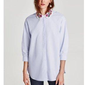 Zara Chemise bleu azur