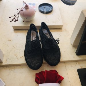 Zapatos estilo Oxford negro