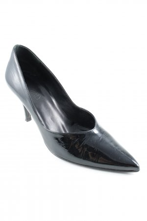 Oxitaly Spitz-Pumps schwarz Business-Look