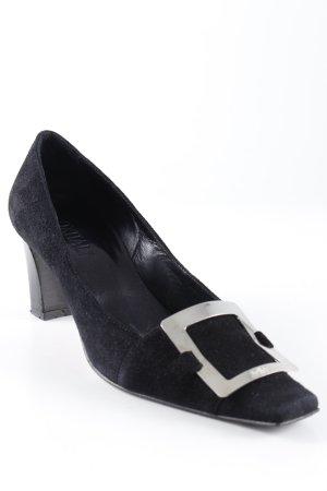 Oxitaly Loafers zwart-zilver elegant