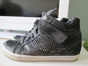 Oxmox Hightop Sneakers mit kleinem Keilabsaz Echtleder Gr.36
