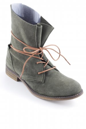 Oxmox Lace-up Booties green grey-gold orange casual look