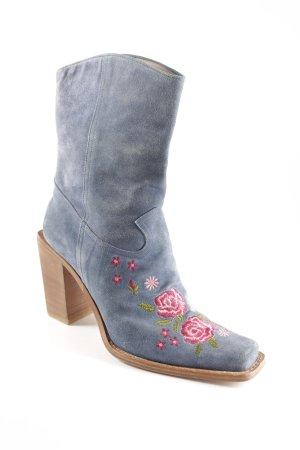 Oxmox Western-Stiefeletten florales Muster Boho-Look
