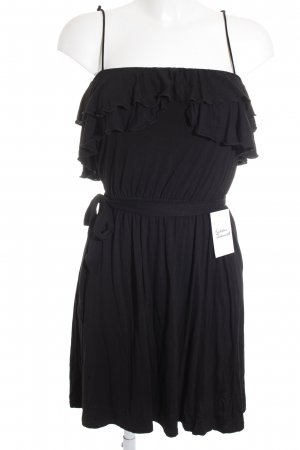 Oysho Babydollkleid schwarz schlichter Stil