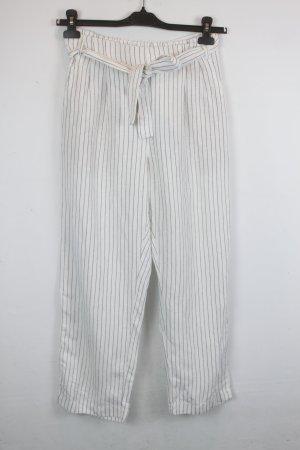 Oysho Pantalone chino bianco-nero Tessuto misto