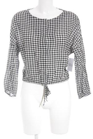 Oysho Karobluse weiß-schwarz Karomuster 60ies-Stil