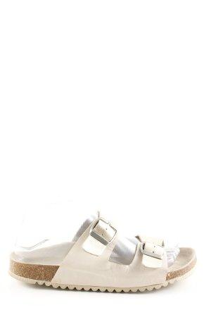 Oysho Sandalias cómodas blanco puro look casual