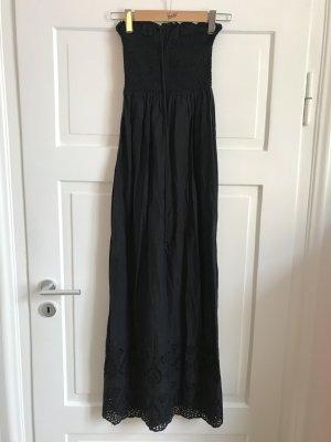 Oysho Langes Kleid Maxikleid Strandkleid Sommerkleid Schulterfrei Bodenlang NEU