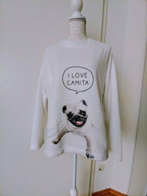 Oysho Pyjama wit-zwart
