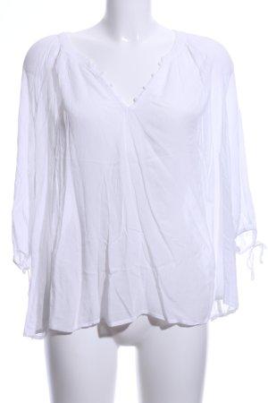 Oysho Oversized Blouse white casual look