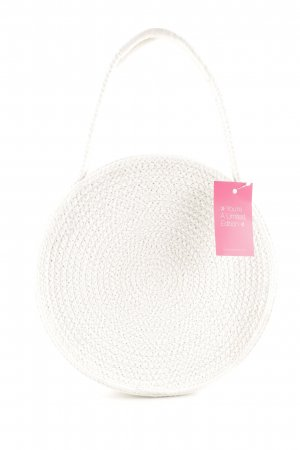 Oysho Stofftasche weiß Zopfmuster Casual-Look