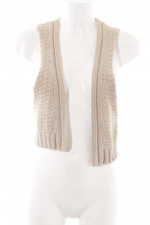 Oysho Strickweste creme Webmuster Casual-Look