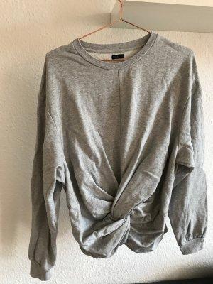 Oysho Sweatshirt gris clair coton