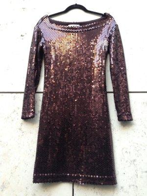 OZBEK Pailletten Kleid, Seide. Gr. 36/38, stretch