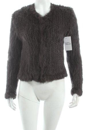 P.A.R.O.S.H. Giacca di pelliccia marrone scuro stile classico