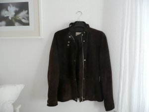 Brookshire Leather Jacket brown-silver-colored leather