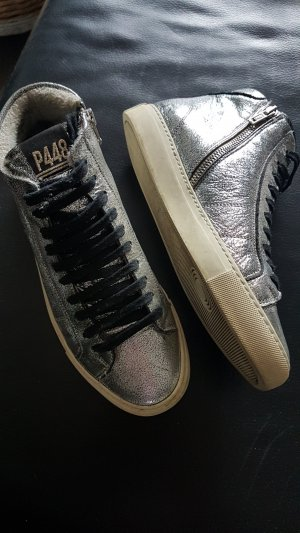 High Top Sneaker silver-colored