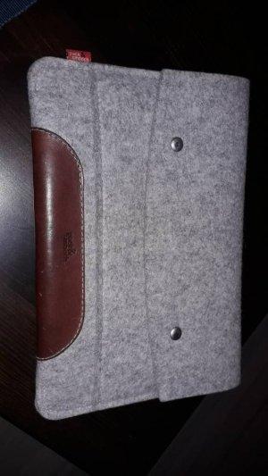 Sacoche d'ordinateur gris-brun foncé