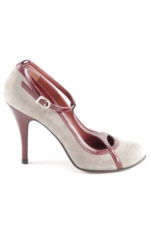 Paco Gil High Heels graubraun-bordeauxrot Elegant
