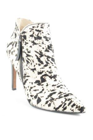 Paco Gil Chaussure à talons carrés blanc cassé-noir style extravagant